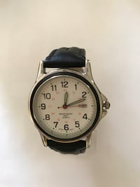 Mens watch with black leather strap  brand new Pemberton township, 08015