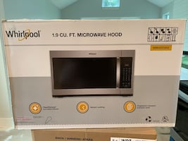 Whirlpool 1.9 cu ft new on box microwave
