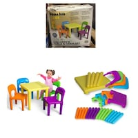 OxGord Kids Table And Chairs Play Set For Toddler Child Toy Activity  Stafford, 77477
