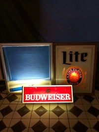 Rc cola, budweiser and miller lite lighted signs El Monte, 91733
