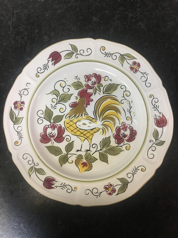 """Mikasa China Terrastone Rooster COQ D'ORO 12""""  Chop Plate/Round Platter"""