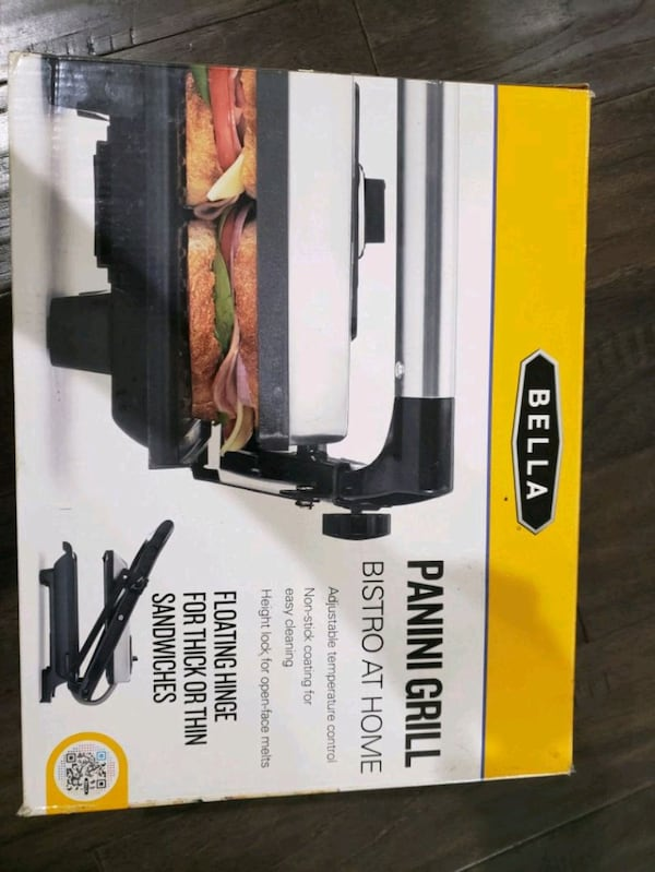 Bella Panini stainless steel non-stick Grill 6cb76ccb-ee19-481d-b40f-df26545a4966