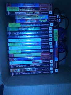 Sony PS2 game case collection