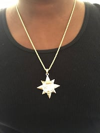 Gold plated chain and charm $30 each