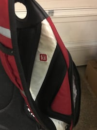 Red and black nike backpack built-in charger Leesburg