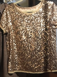 Talbots gold sequined top  Murrells Inlet, 29576