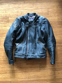 Black leather motorcycle jacket San Diego, 92117