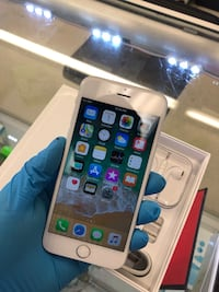 silver iPhone 6 with box, EarPods, and charger Houston, 77081