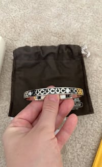 Authentic COACH Bangle black with silver and Zirconia accent Mississauga, L5B