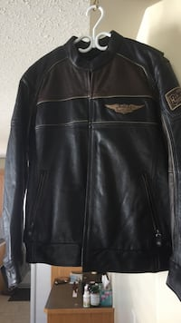 Black leather zip-up jacket Sylvan Lake, T4S 2L5