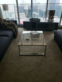 rectangular brown wooden coffee table Chicago, 60654