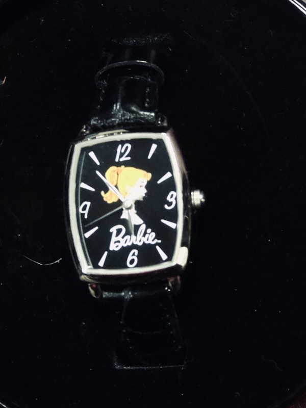 New Barbie watch never worn in original tin and box 0