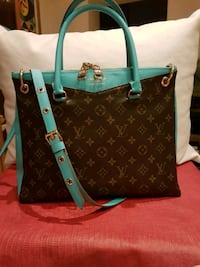 Tote bag in pelle Louis Vuitton marrone e verde Vobarno, 25079