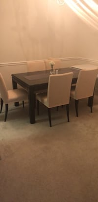 Dining table with insert and 6 chairs Herndon, 20170
