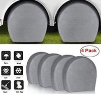 Set of 4 RV Tire Covers, Waterproof, UV Coating, Tire Protectors for T