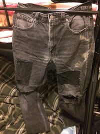 gray denim distressed jeans Laval, H7W 1M5