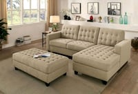 New Sectional with ottoman  2277 mi