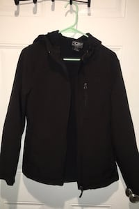 Woman's black water resistant lined Jacket Omaha, 68131