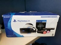 white and black Sony PlayStation VR bundle
