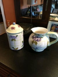 Ceramic water pitcher and cookie jar