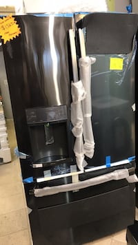 black and gray french door refrigerator West Palm Beach, 33409