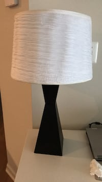 white and black table lamp Arlington