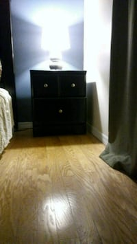 black wooden 3-drawer chest