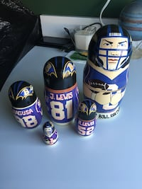 BALTIMORE RAVEN'S FOOTBALL NESTING DOLLS!