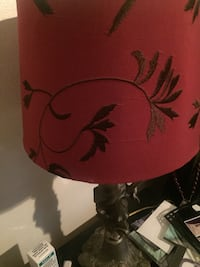red and black floral table lamp New Britain, 06051