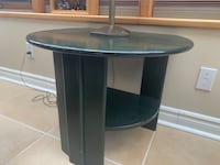Green side coffee table - great condition, real wood