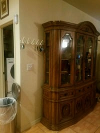 brown wooden framed glass display cabinet Miami, 33176