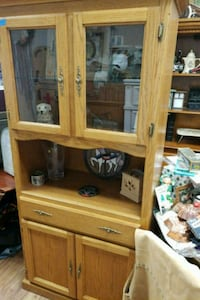 brown wooden TV hutch with flat screen television Acton, 93510