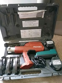 red and black Milwaukee cordless power drill Hyattsville, 20785
