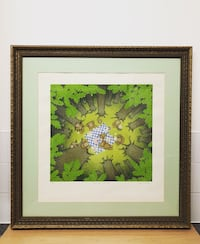 Golden wooden framed prints of forest London, EC1V 1AL