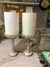 two white and gray table lamps Riverhead, 11901