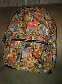 All the characters The Simpsons bookbag