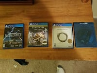 Four PS4 games Woodbridge, 22192