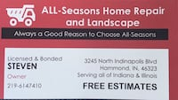 ALL-seasons home improvement and much more East Chicago