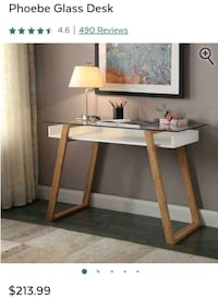 Phoebe Glass Desk   Rockville