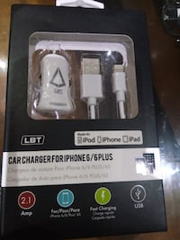 LBT Apple Approved Car Charger with a Detachable L