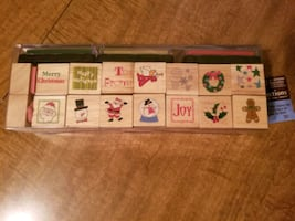 Christmas rubber stamps sets