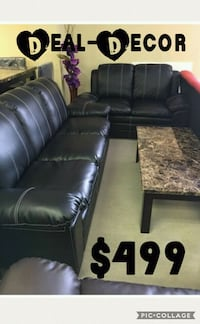 black leather sectional couch with ottoman 530 mi