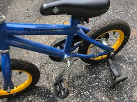 Bike for learning with training wheels