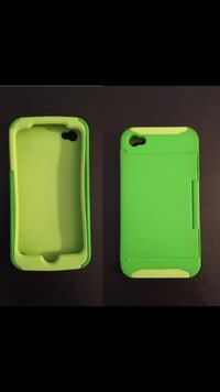 Green rubber iPhone 4s case