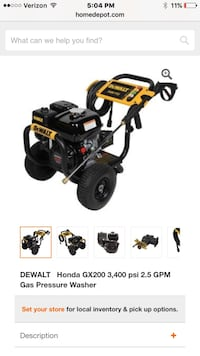 Dewalt pressure washer screenshot Midland, 79706