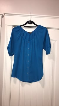 EXPRESS Blue Blouse 3/4 Sleeve - Size Small