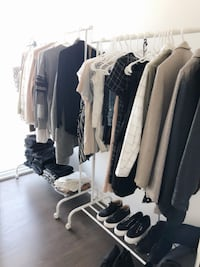 2 MODERN WHITE CLOTHING RACKS Toronto