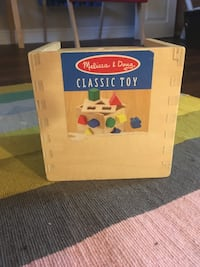 Wooden toys/Melissa and Doug size matching box