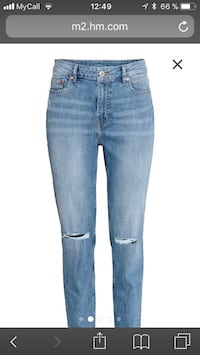 Boyfriend Slim Low Jeans  Helt ny for stor størrelse Mysen, 1850