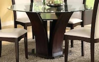 Manhattan lll Round Glass Top Counter Height w/2 Counter Height Chairs Charlotte, 28269